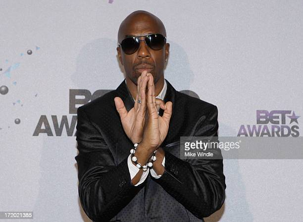 Actor/comedian J B Smoove poses in the Backstage Winner's Room at Nokia Theatre LA Live on June 30 2013 in Los Angeles California