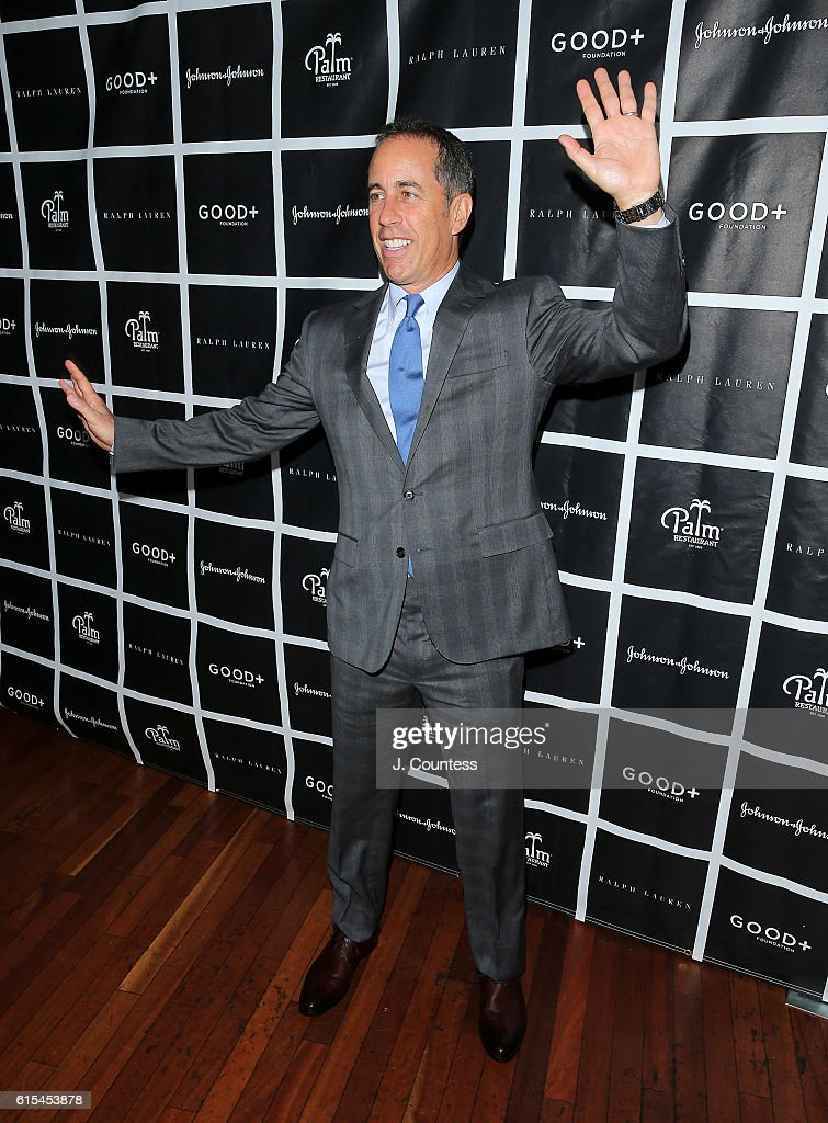 Actor/comedian Jerry Seinfeld attends the 2016 Foundation Good+ New York Fatherhood Luncheon at The Palm Tribeca on October 18, 2016 in New York City.