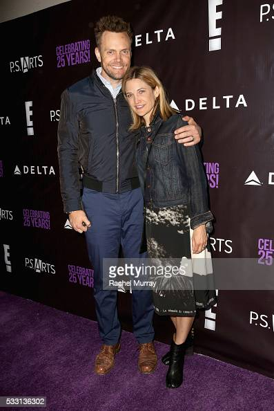 Actor/comedian Joel McHale and Sarah Williams attend the pARTy celebrating 25 years of PS ARTS on May 20 2016 in Los Angeles California