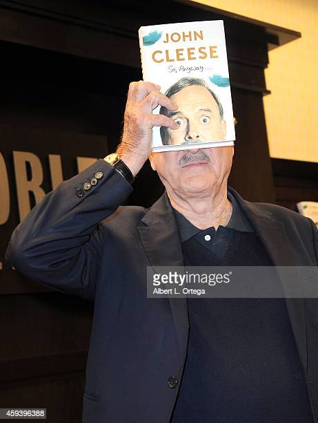 Actor/comedian John Cleese Signs and does a QA For 'So Anyway' held at Barnes Noble bookstore at The Grove on November 21 2014 in Los Angeles...