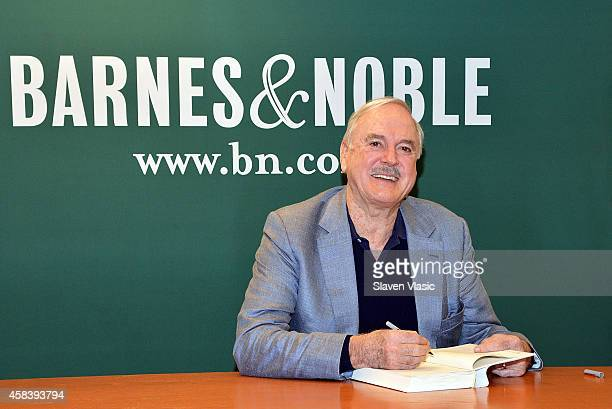 Actor/comedian John Cleese signs copies of his book 'So Anyway' at Barnes Noble 5th Avenue on November 4 2014 in New York City