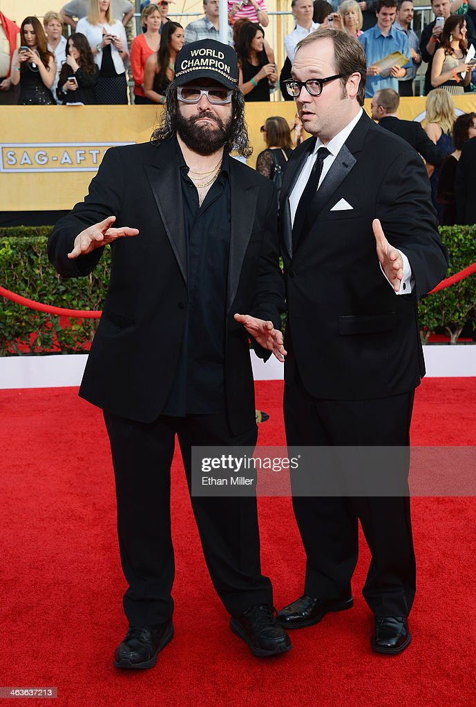 Actor/comedian Judah Friedlander and actor John Lutz attend the 20th Annual Screen Actors Guild Awards at The Shrine Auditorium on January 18 2014 in...