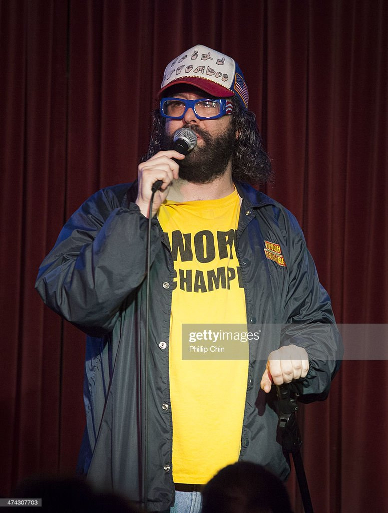 Actor/comedian Judah Friedlander performs at the Comedy Mix during the Northwest Comedy Fest on February 15 2014 in Vancouver Canada