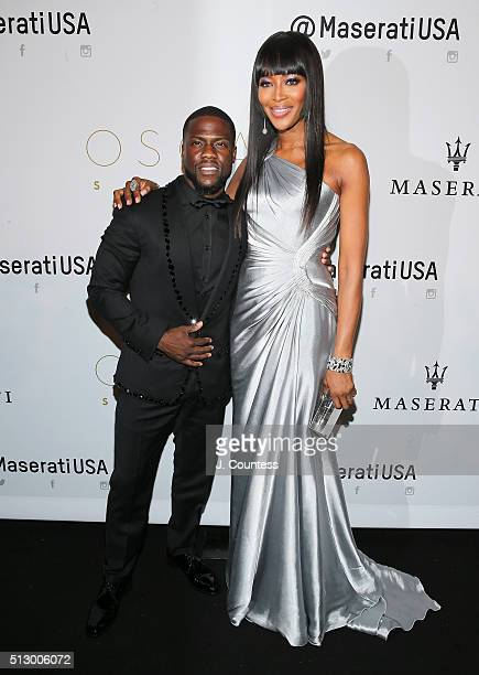 Actor/comedian Kevin Hart and model Naomi Campbell attend the 2016 Oscar Salute Hosted By Kevin Hart Academy Awards Screening And AfterParty at W...