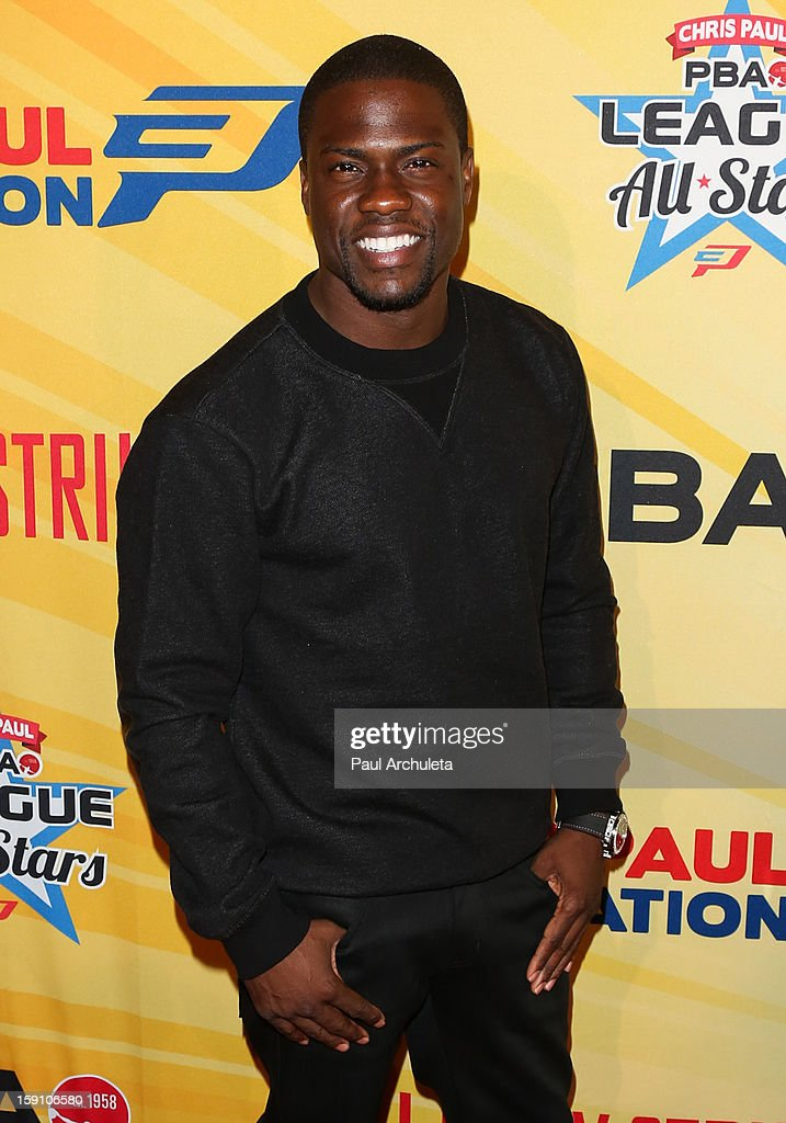 Actor/Comedian <a gi-track='captionPersonalityLinkClicked' href=/galleries/search?phrase=Kevin+Hart+-+Actor&family=editorial&specificpeople=4538838 ng-click='$event.stopPropagation()'>Kevin Hart</a> attends the 5th annual Chris Paul PBA All-Stars charity tournament at Lucky Strike Lanes at L.A. Live on January 7, 2013 in Los Angeles, California.