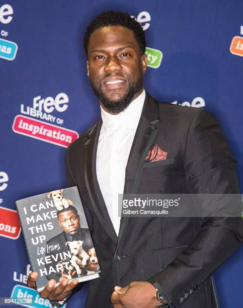 Actor/comedian Kevin Hart meet and greet with fans to promote his new book 'I Can't Make This Up Life Lessons' at Free Library of Philadelphia on...