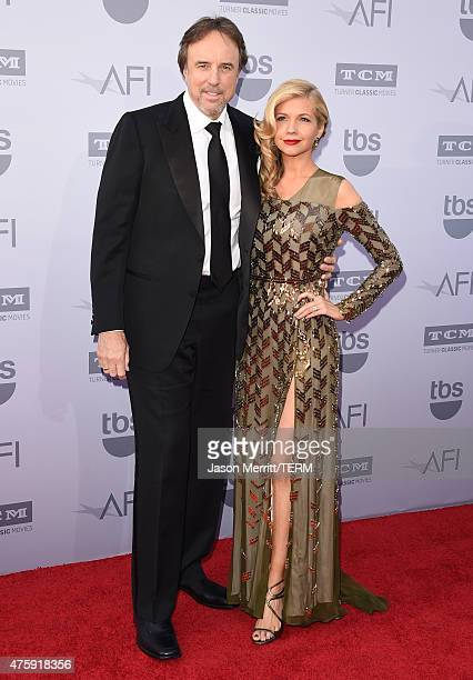 Actorcomedian Kevin Nealon and actress Susan Yeagley attend the 2015 AFI Life Achievement Award Gala Tribute Honoring Steve Martin at the Dolby...