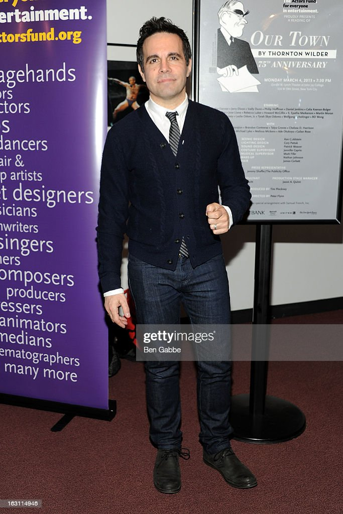Actor/comedian Mario Cantone attends 'Our Town' Benefit Performance at the Gerald W. Lynch Theatre on March 4, 2013 in New York City.