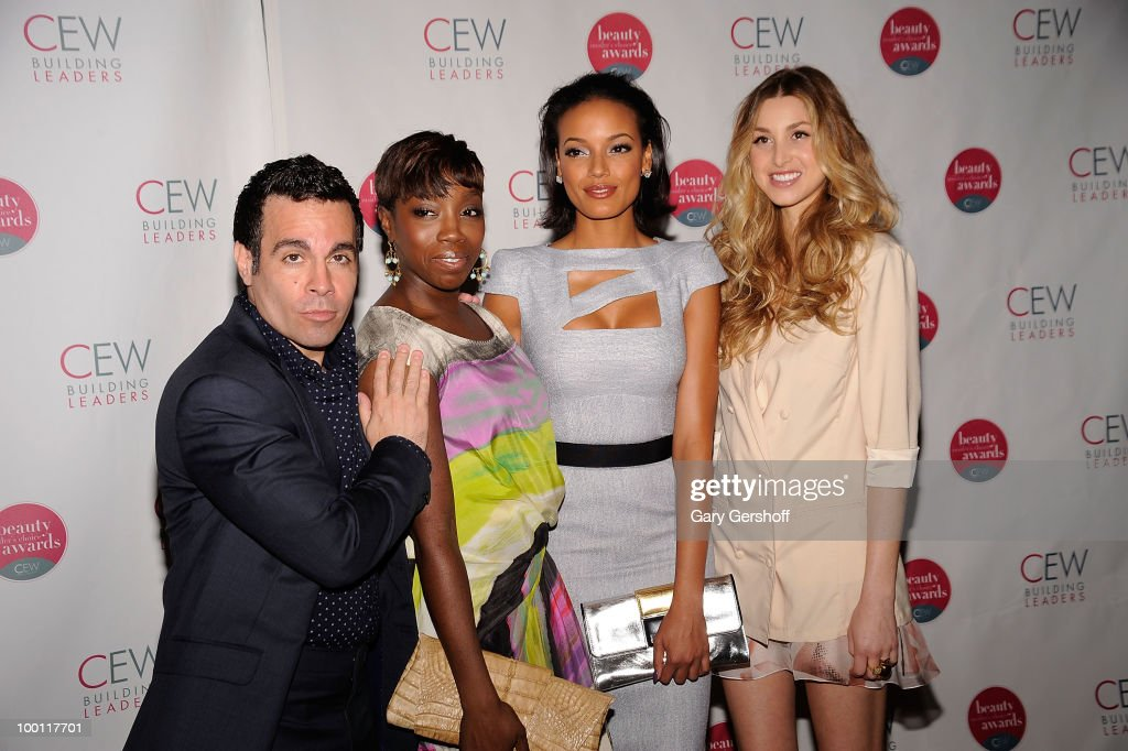 Actor/comedian Mario Cantone singer Estelle model Selita Ebanks and television personality Whitney Port attend the 2010 Cosmetic Executive Women...