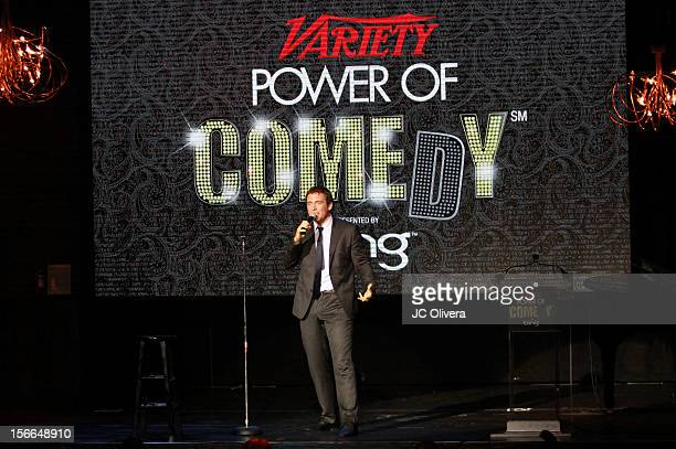 Actor/comedian Owen Benjamin speaks onstage at Variety's 3rd annual Power of Comedy event presented by Bing benefiting the Noreen Fraser Foundation...