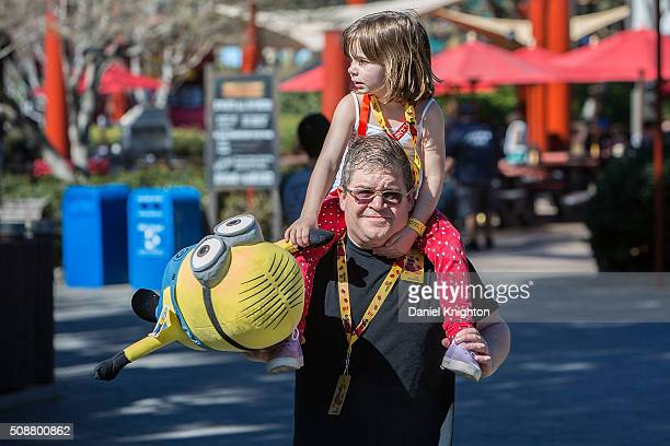 Actor/comedian Patton Oswalt and his daughter Alice Oswalt visit LEGOLAND on February 6 2016 in Carlsbad California