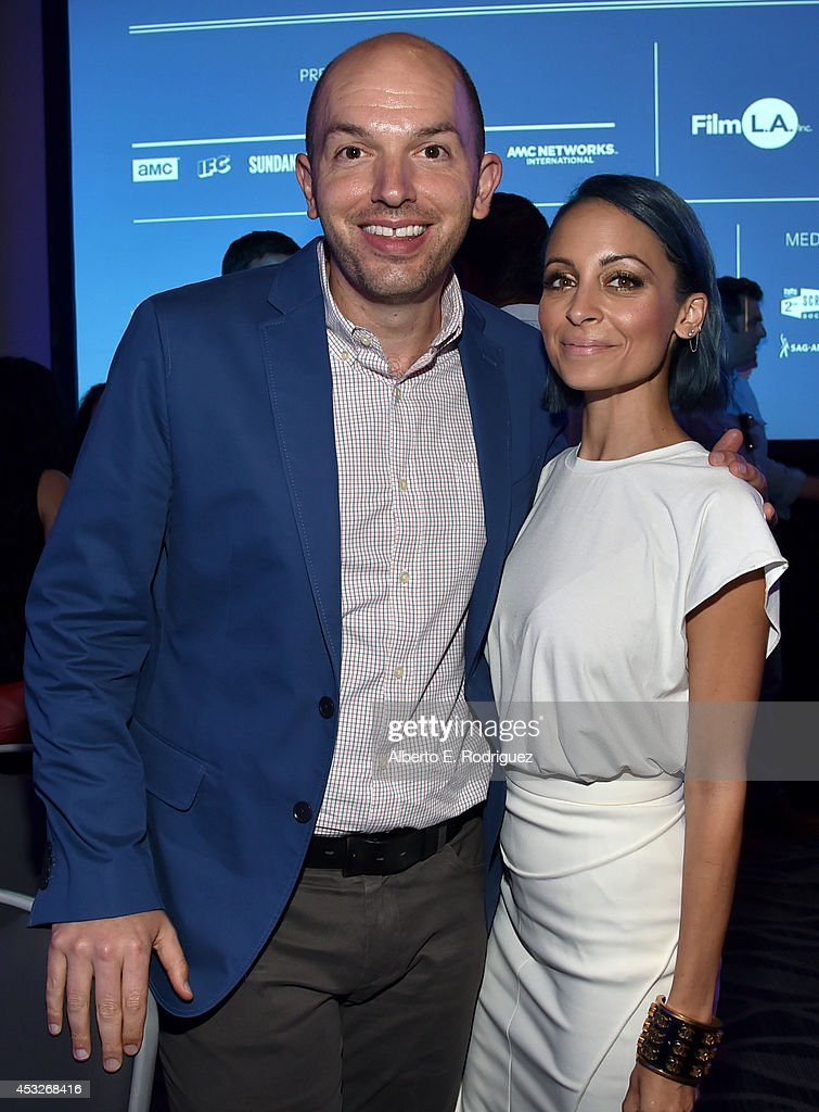 Actor/comedian Paul Scheer (L) and TV personality Nicole Richie attend Tune In! Variety's TV Summit at Intercontinental Century City on August 6, 2014 in Century City, California.