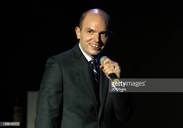 Actor/comedian Paul Scheer speaks onstage at Variety's 3rd annual Power of Comedy event presented by Bing benefiting the Noreen Fraser Foundation...