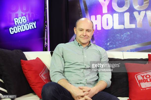 Actor/comedian Rob Corddry visits the Young Hollywood Studio on February 5 2013 in Los Angeles California
