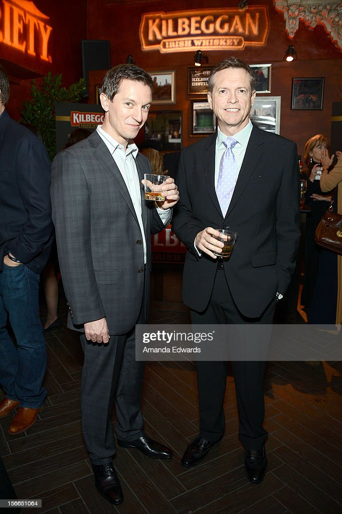 Actor/comedian <a gi-track='captionPersonalityLinkClicked' href=/galleries/search?phrase=Rove+McManus&family=editorial&specificpeople=206519 ng-click='$event.stopPropagation()'>Rove McManus</a> (L) and guest attend Variety's 3rd annual Power of Comedy after party event presented by Bing benefiting the Noreen Fraser Foundation held at Avalon on November 17, 2012 in Hollywood, California.