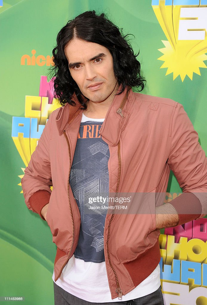 Actor/comedian Russell Brand arrives at Nickelodeon's 24th Annual Kids' Choice Awards at Galen Center on April 2, 2011 in Los Angeles, California.