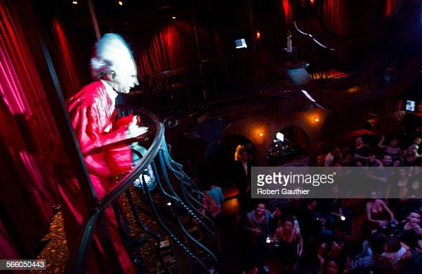 Actor/comedian Rusty Dooley depicts Bram Stoker's Dracula as he interacts with patrons at club Premiere in Hollywood