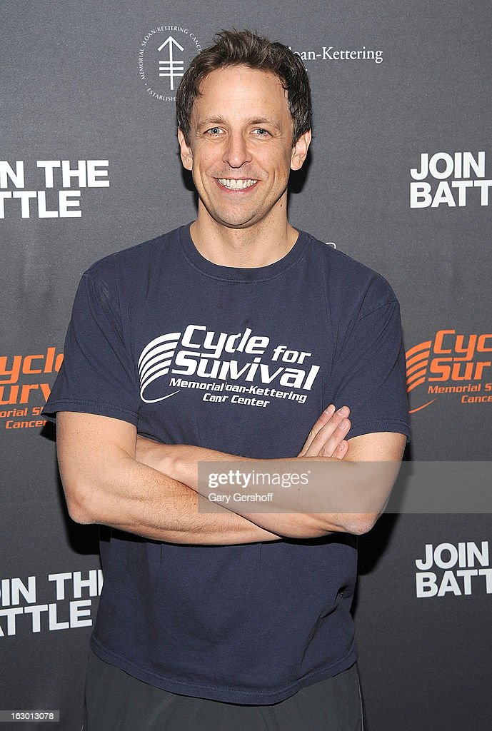Actor/comedian Seth Meyers attends the 2013 Cycle For Survival Benefit at Equinox Rock Center on March 3, 2013 in New York City.