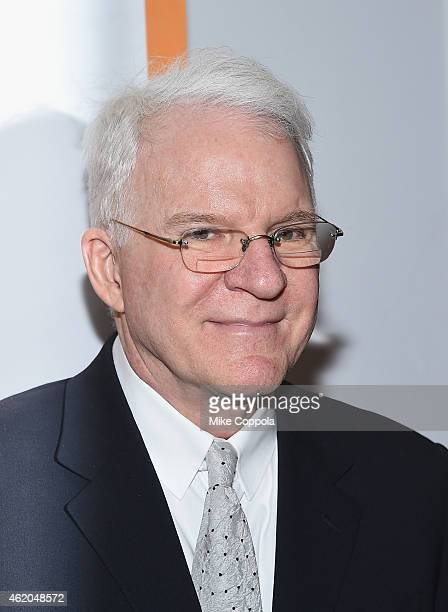 Actor/comedian Steve Martin attend 'It's Only A Play' Broadway ReOpening Night at The Bernard B Jacobs Theatre on January 23 2015 in New York City