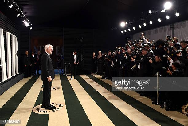 Actor/comedian Steve Martin attends the 2015 Vanity Fair Oscar Party hosted by Graydon Carter at the Wallis Annenberg Center for the Performing Arts...