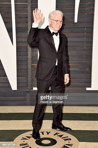 Actor/comedian Steve Martin attends the 2015 Vanity Fair Oscar Party hosted by Graydon Carter at Wallis Annenberg Center for the Performing Arts on...