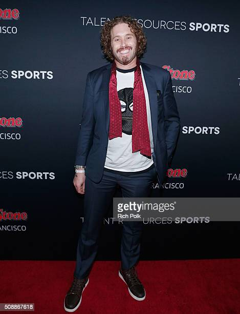 Actor/comedian T J Miller attends Rolling Stone Live SF with Talent Resources on February 7 2016 in San Francisco California