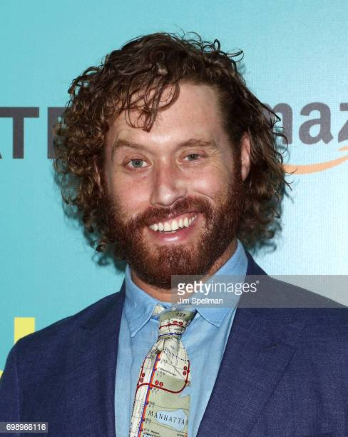 Actor/comedian T J Miller attends 'The Big Sick' New York premiere at The Landmark Sunshine Theater on June 20 2017 in New York City