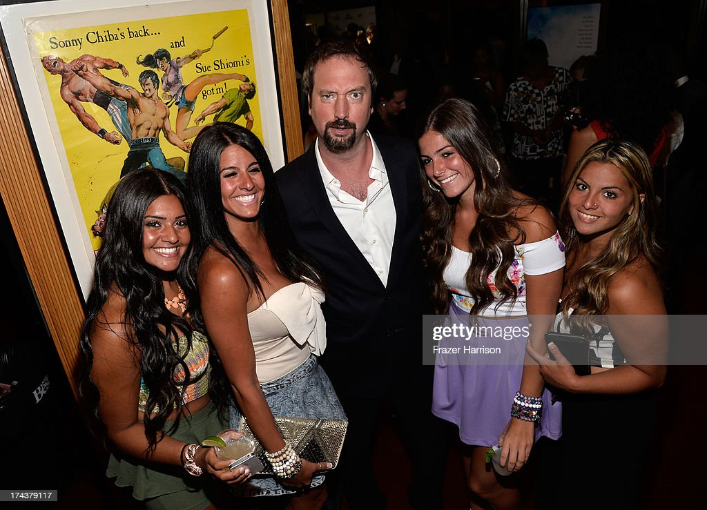 Actor/comedian <a gi-track='captionPersonalityLinkClicked' href=/galleries/search?phrase=Tom+Green&family=editorial&specificpeople=208982 ng-click='$event.stopPropagation()'>Tom Green</a> (C) attends the after party for the premiere of 'Blue Jasmine' hosted by AFI & Sony Picture Classics at AMPAS Samuel Goldwyn Theater on July 24, 2013 in Beverly Hills, California.