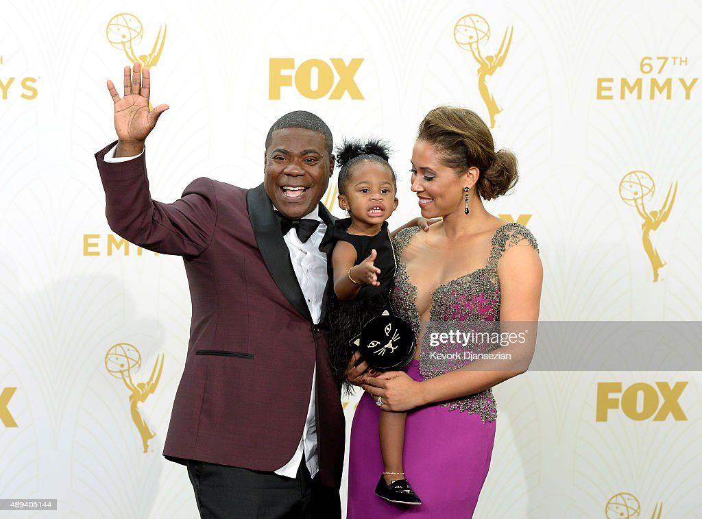 Actor/comedian Tracy Morgan Maven Sonae Morgan and Megan Morgan pose in the press room at the 67th Annual Primetime Emmy Awards at Microsoft Theater...
