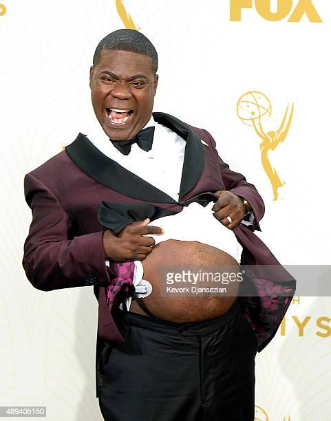 Actor/comedian Tracy Morgan poses in the press room at the 67th Annual Primetime Emmy Awards at Microsoft Theater on September 20 2015 in Los Angeles...