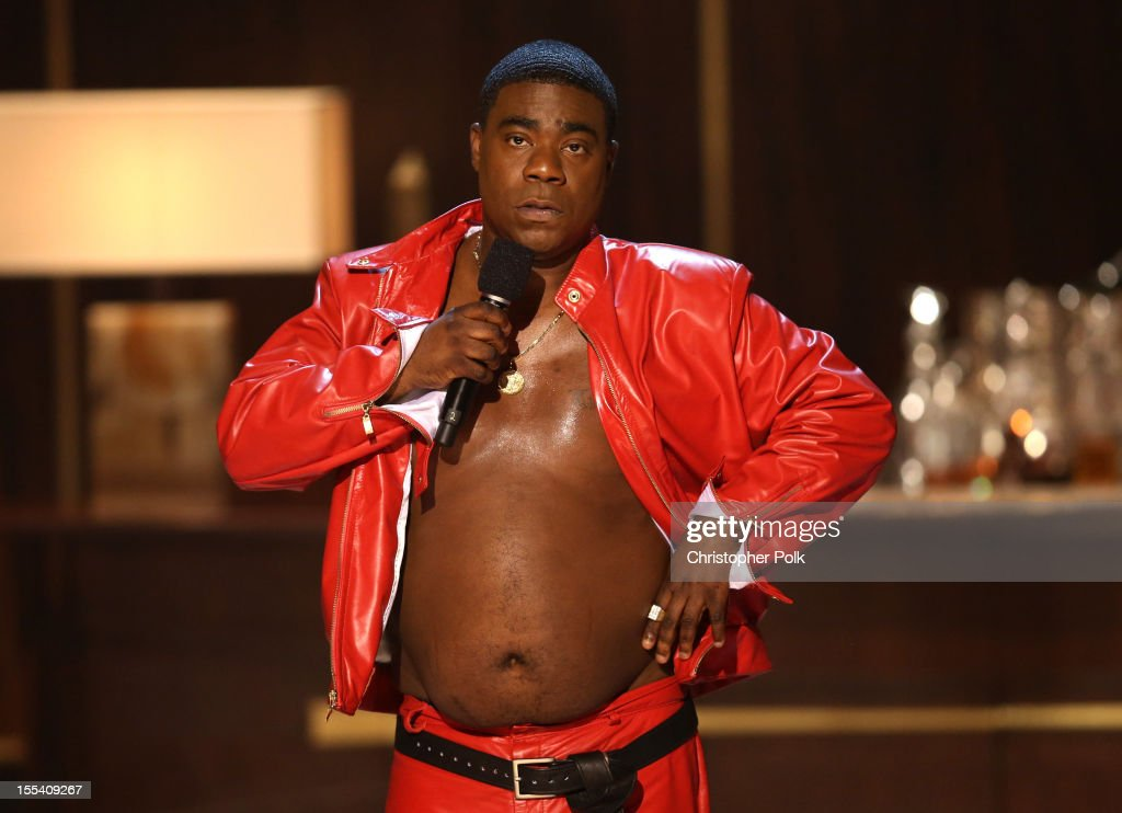 Actor/comedian <a gi-track='captionPersonalityLinkClicked' href=/galleries/search?phrase=Tracy+Morgan&family=editorial&specificpeople=182428 ng-click='$event.stopPropagation()'>Tracy Morgan</a> speaks onstage at Spike TV's 'Eddie Murphy: One Night Only' at the Saban Theatre on November 3, 2012 in Beverly Hills, California.
