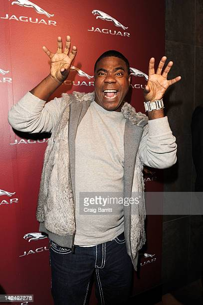 Actor/comedian Tracy Morgan was on hand at STK for Jaguar's celebration of its sporting past and future following the announcment today of the FTYPE...