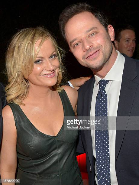 Actor/comedians Amy Poehler and Nick Kroll attend the GQ Men Of The Year Party at The Ebell Club of Los Angeles on November 12 2013 in Los Angeles...