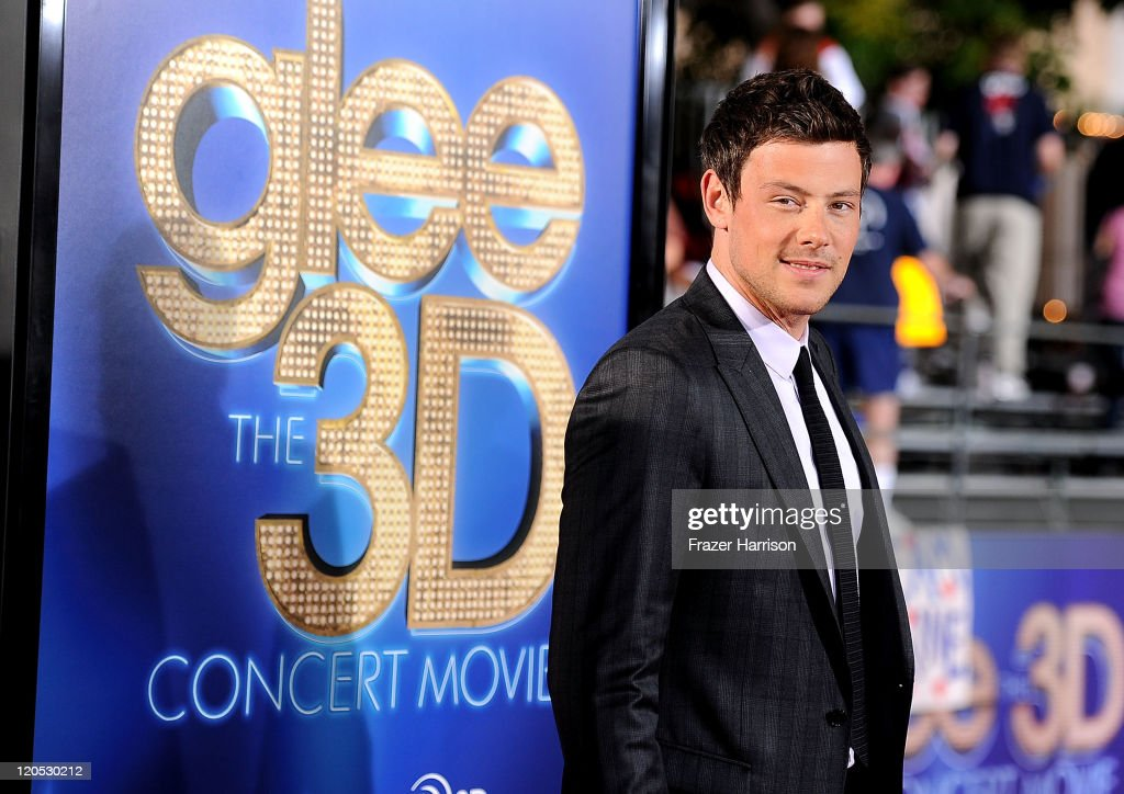 ActorCory Monteith arrives at the Premiere Of Twentieth Century Fox's 'Glee The 3D Concert Movie' at the Regency Village Theater on August 6 2011 in...