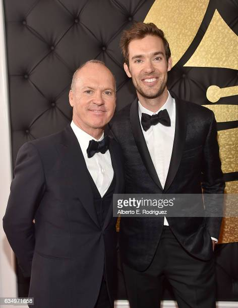 Actor/Dad Michael Keaton and Songwriter/Son Sean Douglas attend The 59th GRAMMY Awards at STAPLES Center on February 12 2017 in Los Angeles California