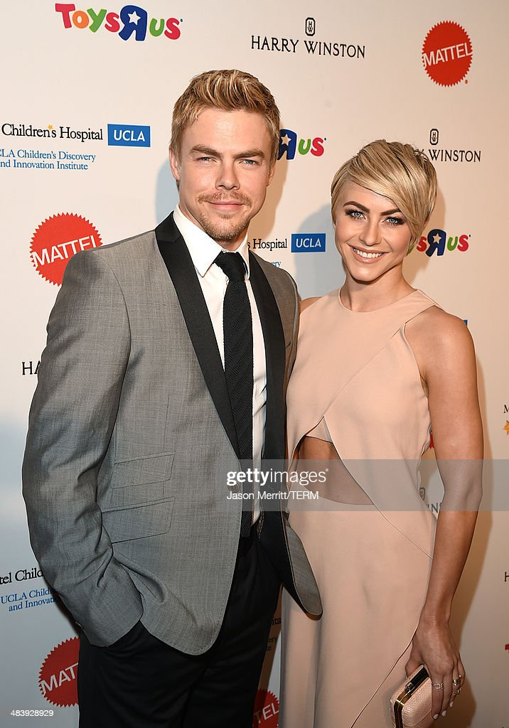 Actor/Dancer <a gi-track='captionPersonalityLinkClicked' href=/galleries/search?phrase=Derek+Hough&family=editorial&specificpeople=4532214 ng-click='$event.stopPropagation()'>Derek Hough</a> and actress <a gi-track='captionPersonalityLinkClicked' href=/galleries/search?phrase=Julianne+Hough&family=editorial&specificpeople=4237560 ng-click='$event.stopPropagation()'>Julianne Hough</a> attend The Kaleidoscope Ball – Designing the Sweet Side of L.A. benefiting the UCLA Children's Discovery and Innovation Institute at Mattel Children's Hospital UCLA held at Beverly Hills Hotel on April 10, 2014 in Beverly Hills, California.