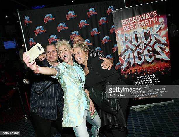 Actor/dancer Frankie J Grande takes a selfie with family at the afterparty for the debut performance debut performances of Frankie J Grande Chester...