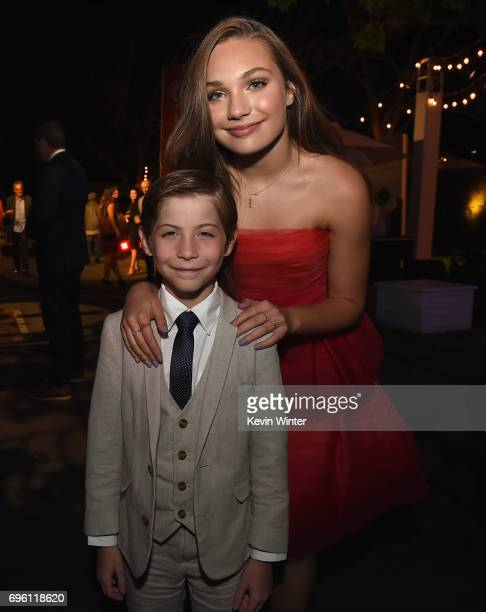 Actor/dancer Maddie Ziegler and Jacob Tremblay attend the Opening Night Party during the 2017 Los Angeles Film Festival at Culver Studios on June 14...