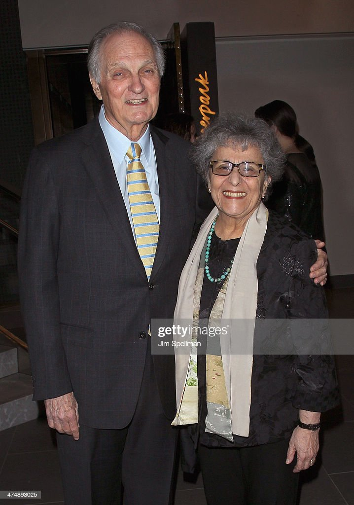 Actor/director Alan Alda and wife Arlene Alda attend the 2014 'CMEE In The City' fundraiser at Riverpark on February 25 2014 in New York City