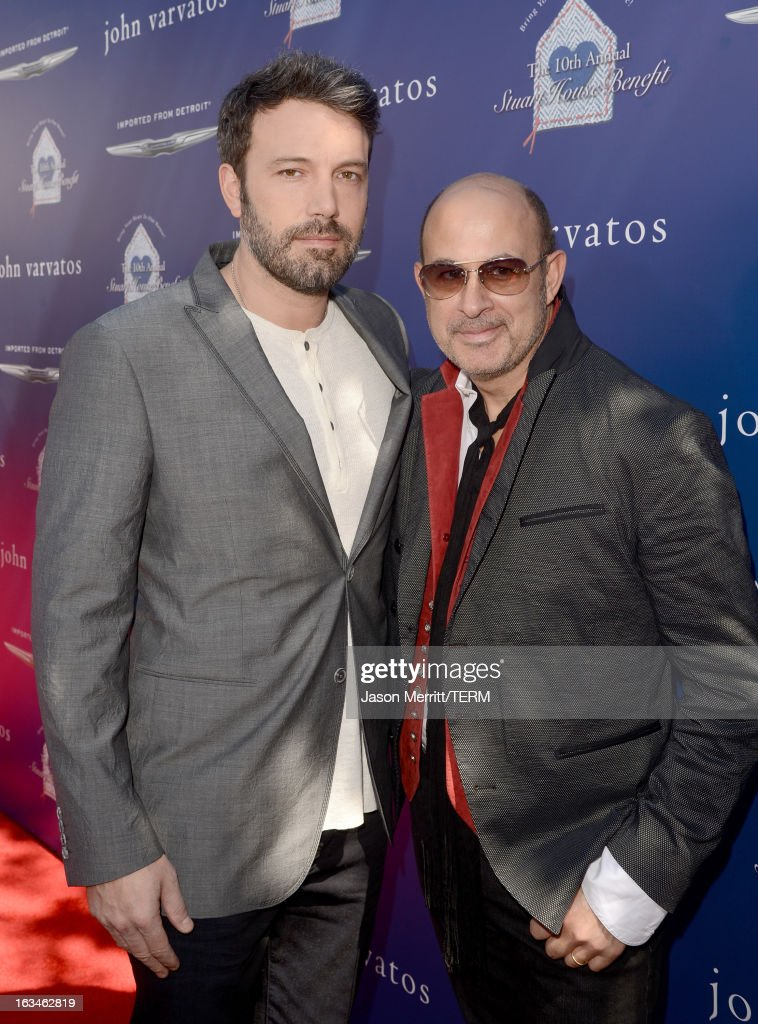 Actor/director <a gi-track='captionPersonalityLinkClicked' href=/galleries/search?phrase=Ben+Affleck&family=editorial&specificpeople=201856 ng-click='$event.stopPropagation()'>Ben Affleck</a> (L) and designer John Varvatos attend the John Varvatos 10th Annual Stuart House Benefit presented by Chrysler, Kids Tent by Hasbro Studios, at John Varvatos Los Angeles on March 10, 2013 in Los Angeles, California.