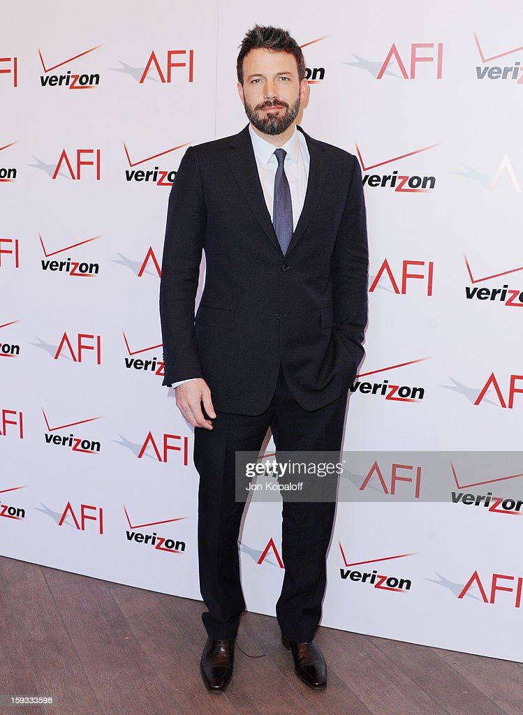 Actor/director <a gi-track='captionPersonalityLinkClicked' href=/galleries/search?phrase=Ben+Affleck&family=editorial&specificpeople=201856 ng-click='$event.stopPropagation()'>Ben Affleck</a> arrives at the 2012 AFI Awards Luncheon on January 11, 2013 in Beverly Hills, California.