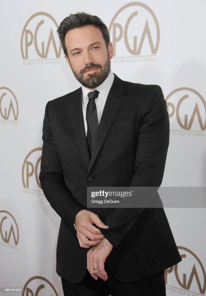 Actor/director <a gi-track='captionPersonalityLinkClicked' href=/galleries/search?phrase=Ben+Affleck&family=editorial&specificpeople=201856 ng-click='$event.stopPropagation()'>Ben Affleck</a> arrives at the 24th Annual Producers Guild Awards at The Beverly Hilton Hotel on January 26, 2013 in Beverly Hills, California.