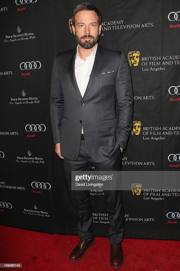 Actor/Director Ben Affleck arrives at the BAFTA Los Angeles 2013 Awards Season Tea Party held at the Four Seasons Hotel Los Angeles on January 12, 2013 in Los Angeles, California.