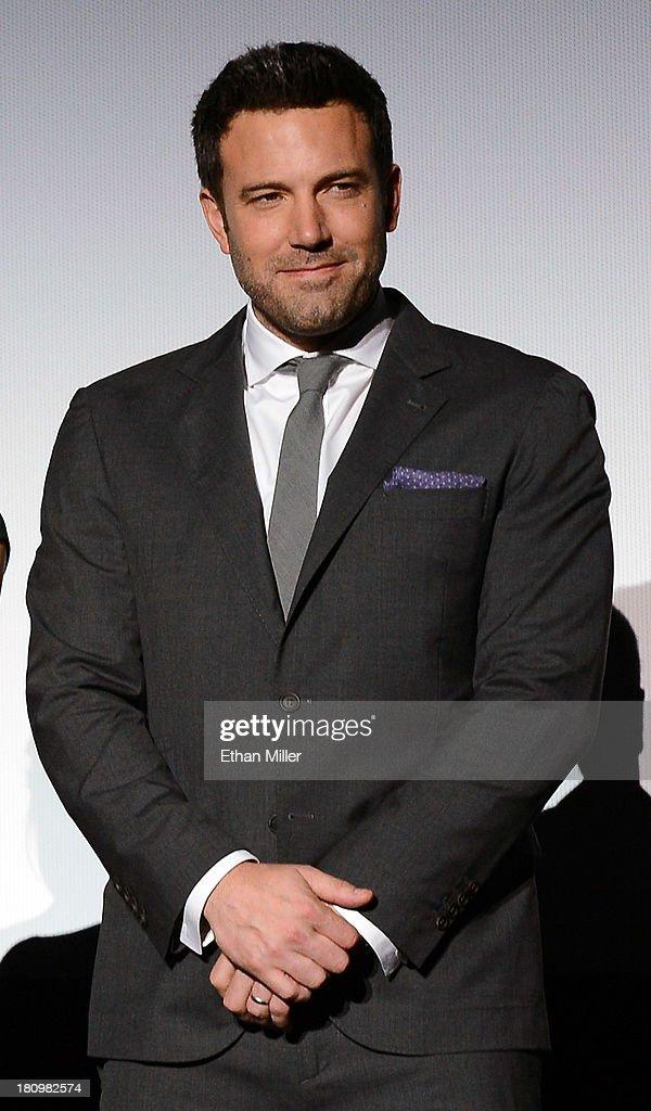 Actor/director Ben Affleck introduces the world premiere of Twentieth Century Fox and New Regency's film 'Runner Runner' at Planet Hollywood Resort & Casino on September 18, 2013 in Las Vegas, Nevada.