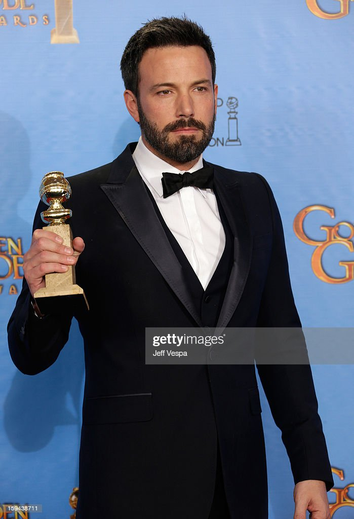 Actor-director Ben Affleck poses in the press room at the 70th Annual Golden Globe Awards held at The Beverly Hilton Hotel on January 13, 2013 in Beverly Hills, California.