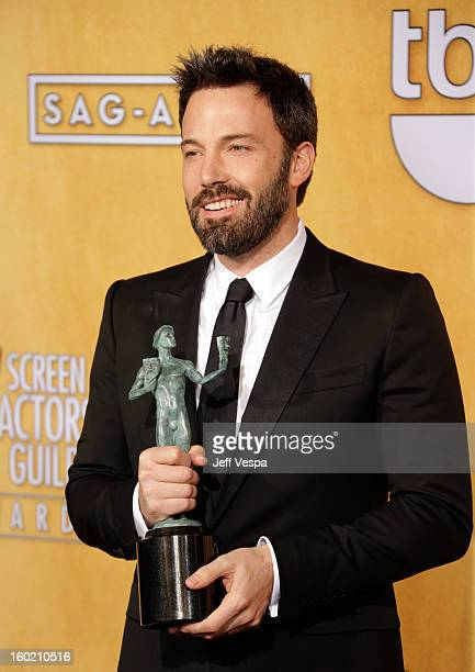 Actor/director Ben Affleck poses in the press room during the 19th Annual Screen Actors Guild Awards held at The Shrine Auditorium on January 27 2013...