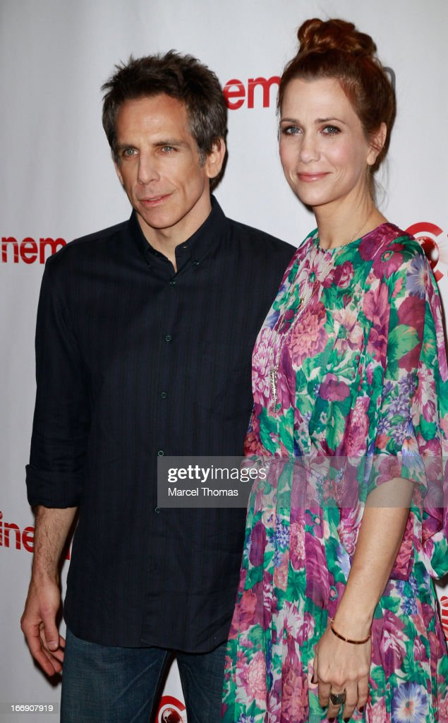 Actor/Director <a gi-track='captionPersonalityLinkClicked' href=/galleries/search?phrase=Ben+Stiller&family=editorial&specificpeople=201806 ng-click='$event.stopPropagation()'>Ben Stiller</a> and actress <a gi-track='captionPersonalityLinkClicked' href=/galleries/search?phrase=Kristen+Wiig&family=editorial&specificpeople=4029391 ng-click='$event.stopPropagation()'>Kristen Wiig</a> arrive at the 20th Century Fox Cinemacon Press Conference at Caesars Palace during CinemaCon 2013 on April 18, 2013 in Las Vegas, Nevada.