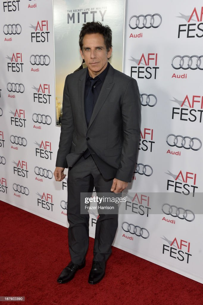 Actor/director <a gi-track='captionPersonalityLinkClicked' href=/galleries/search?phrase=Ben+Stiller&family=editorial&specificpeople=201806 ng-click='$event.stopPropagation()'>Ben Stiller</a> attends the premiere of 'The Secret Life of Walter Mitty' during AFI FEST 2013 presented by Audi at TCL Chinese Theatre on November 13, 2013 in Hollywood, California.