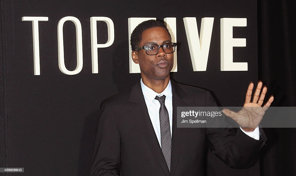 Actor/director Chris Rock attends the 'Top Five' New York premiere at Ziegfeld Theater on December 3 2014 in New York City