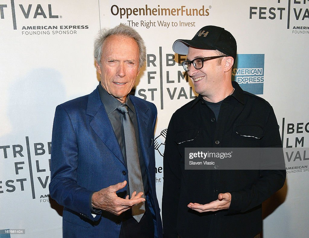 Actor/director <a gi-track='captionPersonalityLinkClicked' href=/galleries/search?phrase=Clint+Eastwood&family=editorial&specificpeople=201795 ng-click='$event.stopPropagation()'>Clint Eastwood</a> (L) and director <a gi-track='captionPersonalityLinkClicked' href=/galleries/search?phrase=Darren+Aronofsky&family=editorial&specificpeople=841696 ng-click='$event.stopPropagation()'>Darren Aronofsky</a> attend the 'Tribeca Talks - Directors Series: <a gi-track='captionPersonalityLinkClicked' href=/galleries/search?phrase=Clint+Eastwood&family=editorial&specificpeople=201795 ng-click='$event.stopPropagation()'>Clint Eastwood</a> with <a gi-track='captionPersonalityLinkClicked' href=/galleries/search?phrase=Darren+Aronofsky&family=editorial&specificpeople=841696 ng-click='$event.stopPropagation()'>Darren Aronofsky</a>' during the 2013 Tribeca Film Festival on April 27, 2013 in New York City.